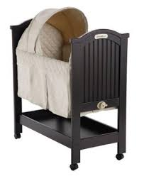 Ed Bauer DARK CHERRY WOOD BABY ROCKING BASSINET CRADLE