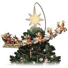 Christmas Tree Amazonca by Thomas Kinkade Holidays In Motion Rotating Illuminated Tree Topper