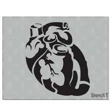 Stencil1 Anatomical Heart Stencil S1 01 61
