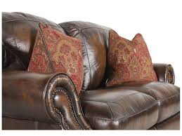 Mathis Brothers Sofa And Loveseats by Nailhead Accented Leather 97