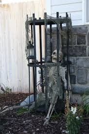 Skeleton In A Cage Will Be Great Decoration Your Outdoor Spaces