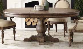 Dining Room Shining Design Pedestal Table With Leaf