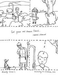 This Free Coloring Page Illustrates Several Of The Important Life Events David From His Humble Beginning As A Shepherd Boy To Anointing King