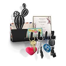 amazon com cactus wall key holder mail organizer decorative key