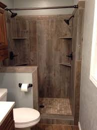 fancy wood tile bathroom shower on home design ideas with wood