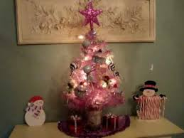 Little Pink Christmas Tree With Lollipop Cupcakes Gift Box Ornaments