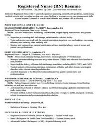 Sample Lpn Resume Registered Nurse Download With No Experience