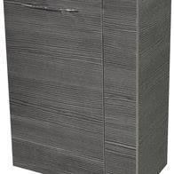 fackelmann 83835 waschbeckenunterschrank gäste wc vadea 45 cm anthrazit links