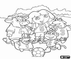Football Match With Dora And Friends The Astute Fox Swiper Coloring Page