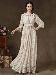 new release usa beige hollow out high waist long sleeve maxi dress