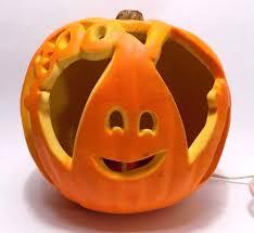 Fiber Optic Pumpkin Head Scarecrow by Gemmy Ghost Blow Mold Pumpkin Lamp Halloween Spookshow
