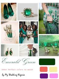 Emerald Green Wedding Color Although I Dont Really Like Their Suggested Colour Matches
