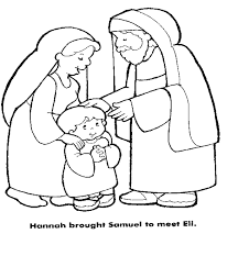 1 Samuel Eli And Boy Hannah Brought To Coloring Page