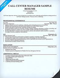 Well Call Center Itself Is The Profession Which Dealing With Resume Sample