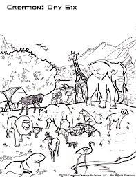 Creation Coloring Pages In Day Six