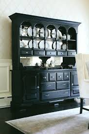 Black Dining Room Hutch Buffet And China Cabinet