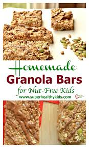Delicious And Chewy Homemade Granola Bars For Nut Free Kids