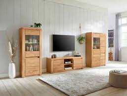 premium collection by home affaire wohnwand burani set 3 tlg teilmassives holz