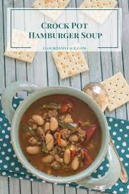 Crock Pot Hamburger Bean Soup