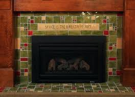 unique arts and crafts tile fireplace surround arts crafts