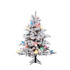 Vickerman 45Ft Flocked White On Green 349 Tips Christmas Tree