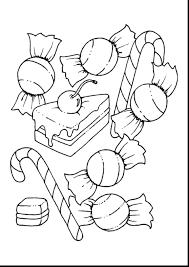 Coloring Pages Cotton Candy Sheet Fantastic Candies Mini Cane Free Printable Halloween