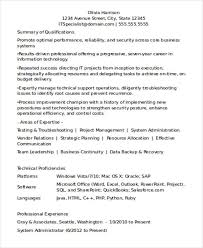 Experienced Resume Format For IT Professionals