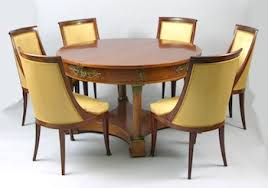 An Empire Style Dining Table And Six Chairs Ca 19th Century 030509