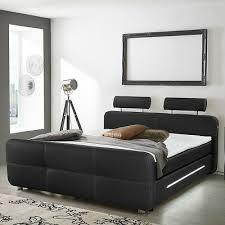 boxspringbett bett für schlafzimmer in schwarz mit
