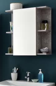 spiegelschrank badezimmer bad spiegel in grau beton regal 60