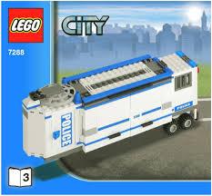 100 Lego Police Truck LEGO Mobile Unit Instructions 7288 City
