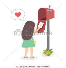 Girl sending love letter A girl sending love letter vector