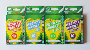 Crayola Bathtub Crayons Collection by 10 Count Crayola Mighty Marks Markers What U0027s Inside The Box
