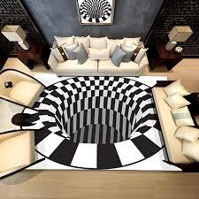 bescita moderner teppich fliesen hauptströmung schwarz weiß ziegel teppich rutschfest für kinderzimmer boden wohnzimmer bad flur tür matte b