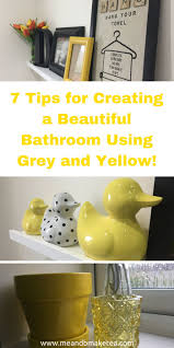Gray And Yellow Bathroom Decor Ideas by Best 25 Yellow Bathroom Accessories Ideas On Pinterest Yellow