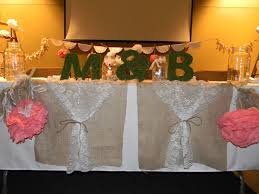 Rustic Wedding Head Table Lace And Burlap Idea