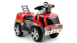100 Fire Truck Red Rigo Kids Ride On And Grey