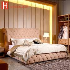 100 Modern Luxury Bedroom US 22560 Bed Modern Nubulk Leather Bed Soft Furniturein Beds From Furniture On Aliexpresscom Alibaba Group