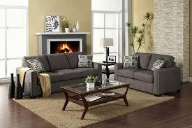 Contemporary Graphite Fabric Sofa Set FA20