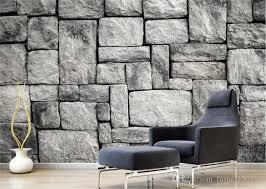 großhandel kundenspezifischer tapeten wohnzimmer schlafzimmer hintergrund 3d tapeten graue europäische stein backsteinmauer hintergrundtapete