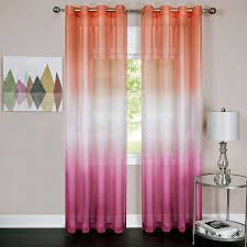 Sheer Curtain Panels With Grommets by Rainbow Single Grommet Curtain Panel Walmart Com