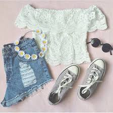 Chic Converse Cropped Crown Cute Date Fashion Flower