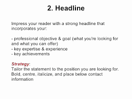 Resume Headline Examples Great Simple R Sum Sample Template Free