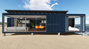 100 Ocean Container Houses China Deluxe View Modular Prefabricated 40feet Shipping