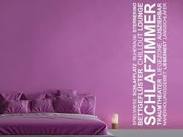 wandtattoo banner schlafzimmer wortwolke
