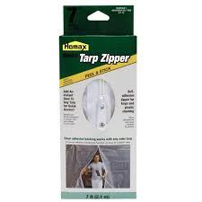 Homax 7 ft Clear Tarp Zipper Door 3142 The Home Depot