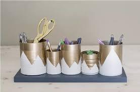 accesoire bureau 12 accessoires dorés pour apporter une touche à votre bureau