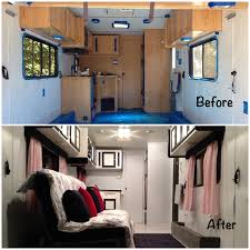 Travel Trailer Remodel Removed All Dated Furniture Repaired Walls Painted Ceiling