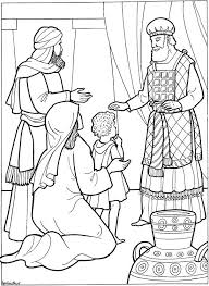 Samuel Hannah Presents To God Keeping Her Promise Dedicate Him Gods Service Biblw Coloring Page