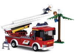 Sluban Fire Engine Rescue Ladder Truck Compatible Building Bricks ...